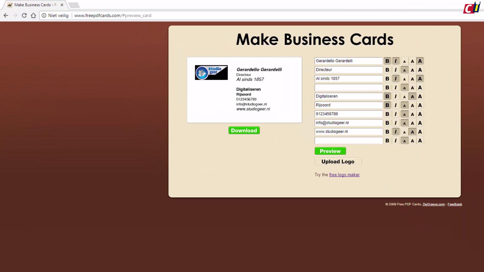Visitekaartjes maken met make business cards computer idee reheart Image collections