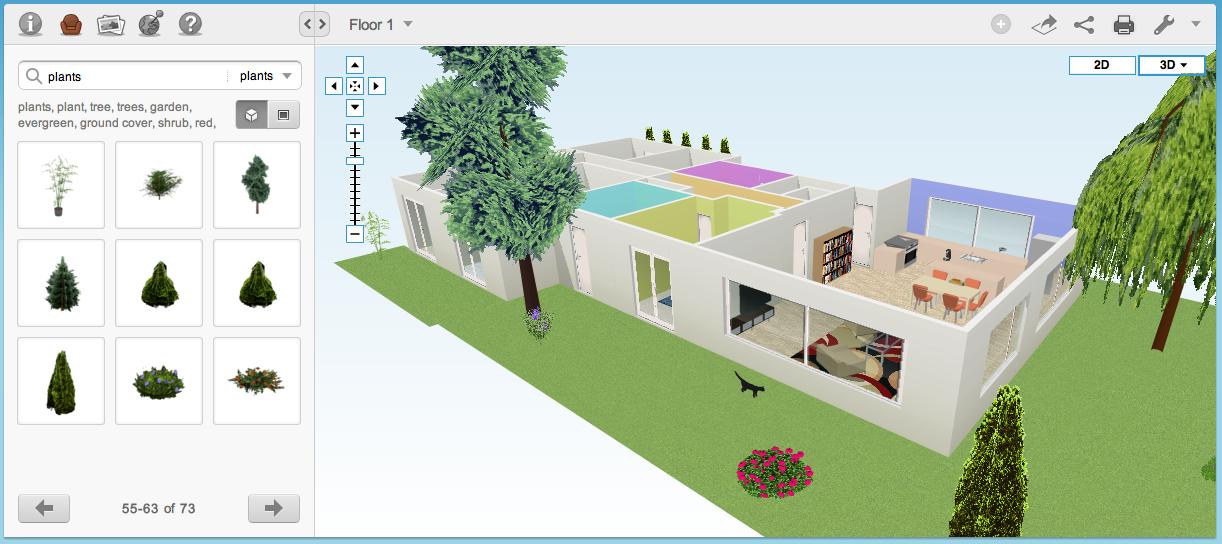 Plattegronden maken met floorplanner 2 inrichten for 3d inrichten