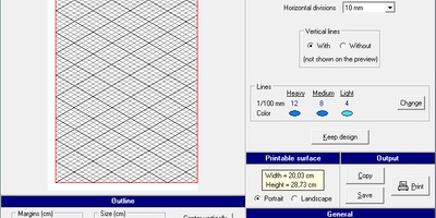 Graph Paper Printer - Speciaal papier printen