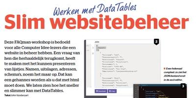 Werken met Datatables
