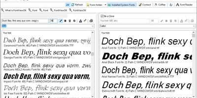 FontViewOK - Bekijk geïnstalleerde en niet-geïnstalleerde lettertypes