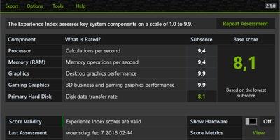 Xiret - Uitgebreide Windows-prestatie-index