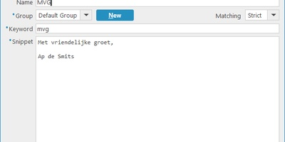 Beeftext - Typ standaardzinnen snel door middel van een paar letters