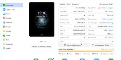 3uTools - De snelste link tussen uw iOS-apparaat en uw pc