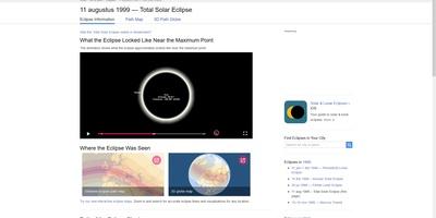 TimeAndDate - Alles over tijden, data, eclipsen en meer