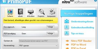 PrimoPDF - Maak uw pdf'jes kleiner