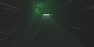 Sky Rusher - Stuur je ruimteschip door de mistige tunnel
