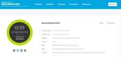 MetaDefender - Scan bestanden voordat u ze downloadt