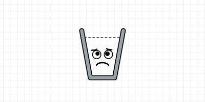 Happy Glass - Mik al het water in het glas