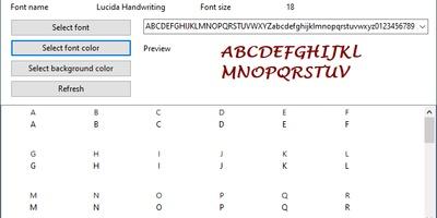 Alternate Font Export - Lettertype exporteren naar afbeelding
