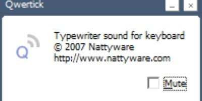 Qwertick - Het heerlijk nostalgische geluid van een schrijfmachine
