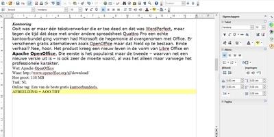 Apache OpenOffice - Een van de beste gratis kantoorbundels
