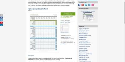 Vertex42 - Excel-werkbladen, Word-sjablonen en meer