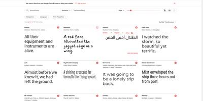 Google Fonts - Een grote collectie gratis lettertypen