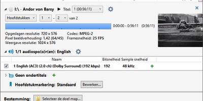 VidCoder - Omzetten naar mp4 of mkv