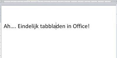 OfficeTab Free - Tabbladen in Office