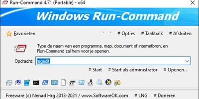 Run-Command - Uitvoeren (Run) in Windows