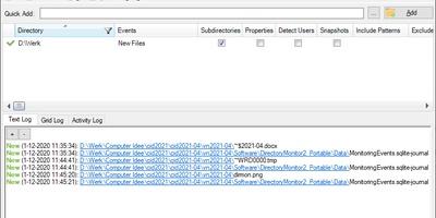 Directory Monitor - Bewaak schijven of mappen op wijzigingen