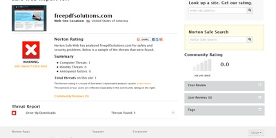 Norton Safe Web - Is deze site veilig? Safe Web geeft antwoord