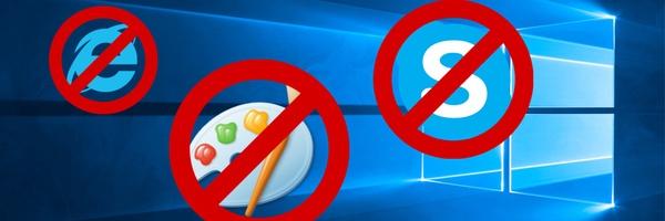 'Windows 10 Lean mist Internet Explorer en meer'