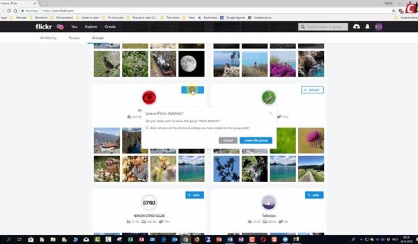 Flickr: groepen en privacy