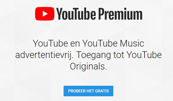 YouTube Premium  en YouTube Music nu ook in Nederland