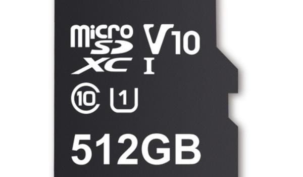 Micro-sd-kaartje van 512 GB grootste opslag tot nu toe