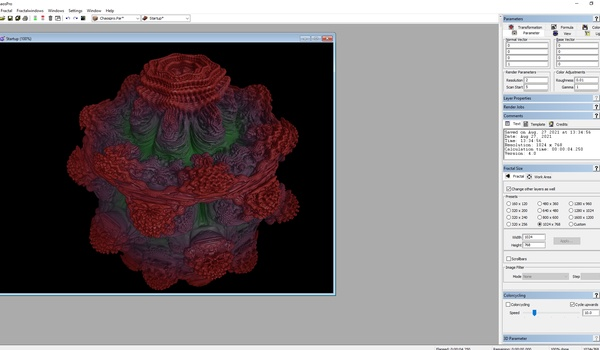 ChaosPro - Snelle, uitgebreide fractal-generator
