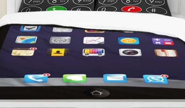 Nooit zonder smartphone met dit App Dekbed