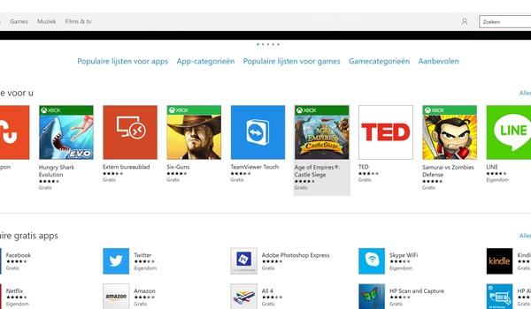 Windows 10: De 'Store'