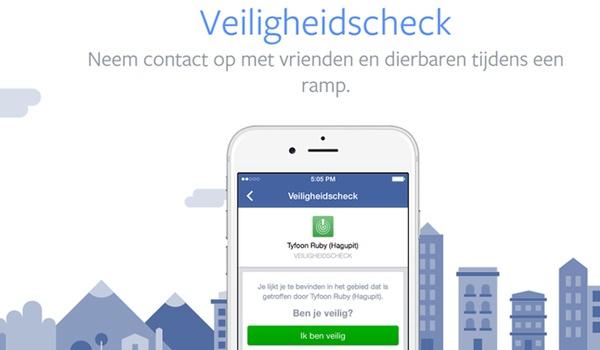 Facebook wil veiligheidscheck vaker inzetten