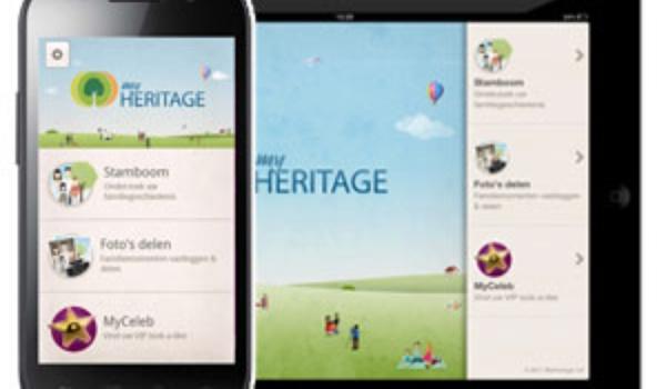 MyHeritage toont stamboom op smartphone en tablet