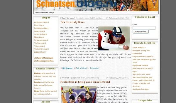 Nieuw schaatsblog van start gegaan