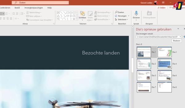 PowerPoint: dia's uit andere presentaties invoegen