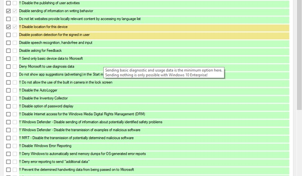 W10Privacy - Privacy-instellingen Windows 10