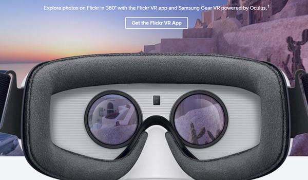 Virtual reality-app van Flickr voor Gear VR