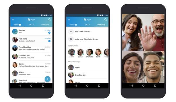 Skype-app vlotter op oude Android-versies