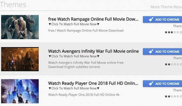 Malafide Chrome-extensies voor gratis streamen films ontdekt