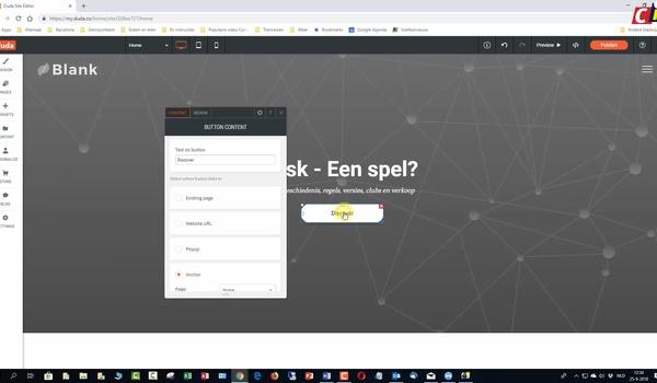 Duda: website opzetten