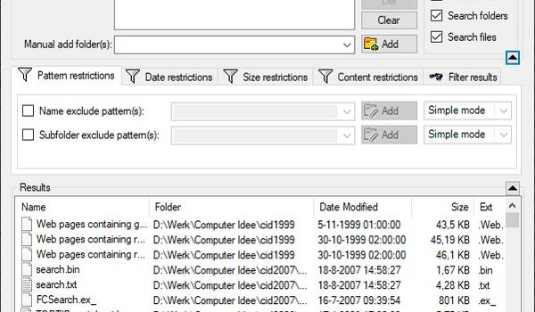 CSearcher - Razendsnelle vervanger voor de trage zoekfunctie van Verkenner