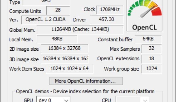 GOU Caps Viewer - Technische info over de grafische kaart