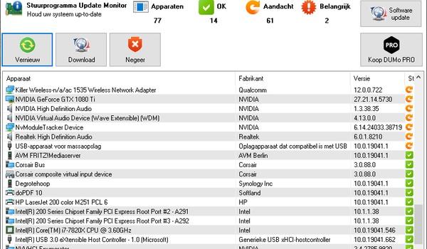 DUMo Lite -  Stuurprogramma's updaten