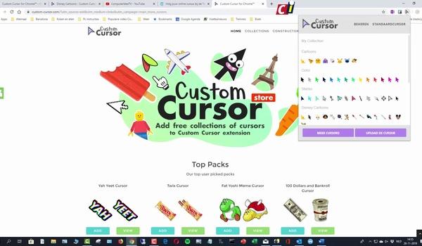 Chrome-extensie Custom Cursor