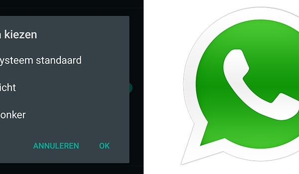 WhatsApp - donker thema instellen