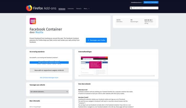 Facebook Container - Bescherm je privacy tegen de gluurders van Facebook