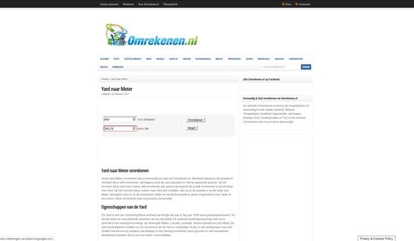 Omrekenen.nl - Hoeveel euro's gaan er in een meter?