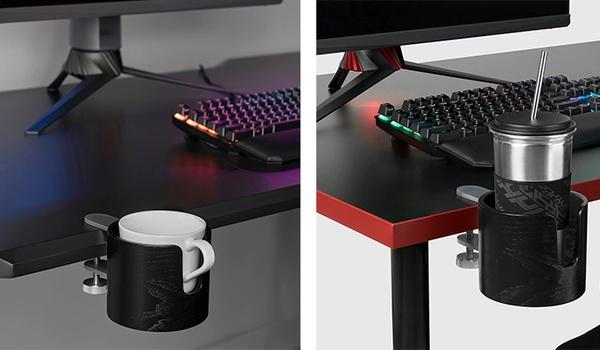 Mokhouder van Ikea houdt toetsenbord droog