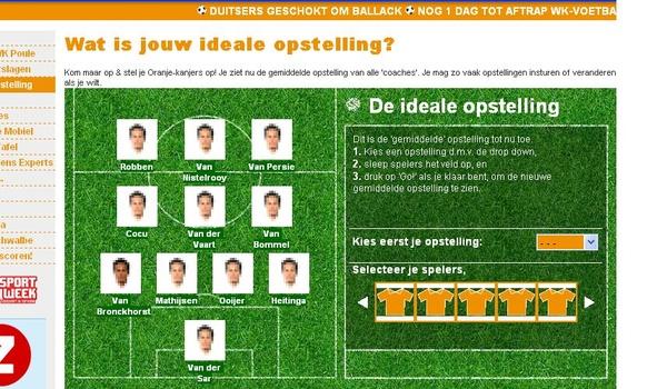 WK-gekte: online coach wil vaste krachten in basis