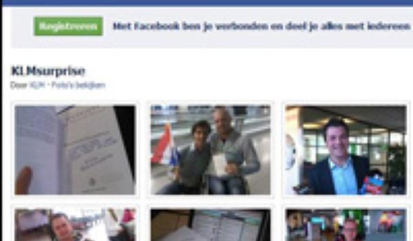 KLM onderzoekt verspreiding 'blijdschap'