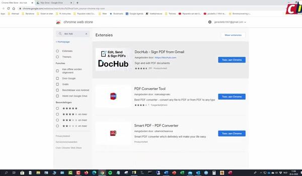 Pdf bewerken met DocHub